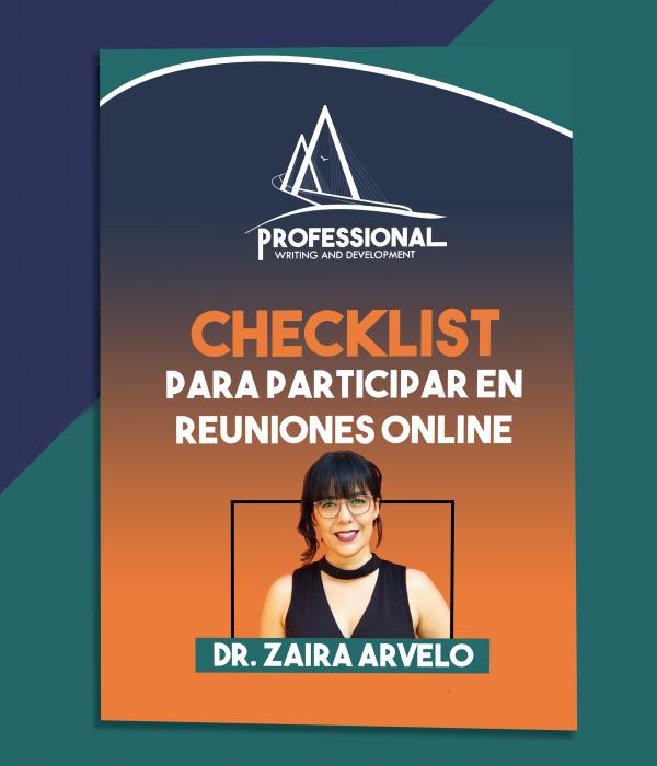 Checklist para participar en reuniones onlinen- Dr Zaira Arvelo