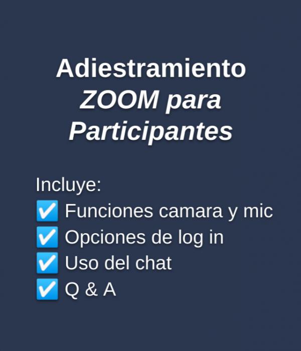 ZOOM Training - Participantes